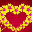 Flower-heart background — Zdjęcie stockowe