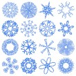 Royalty-Free Stock Photo: Glass set snowflakes