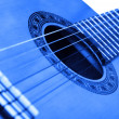Guitar background blue - Stok fotoğraf