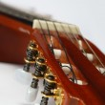 Guitar fingerboard close up — Stock Photo