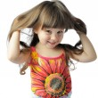 Happy little with sumptuous hair — Stock Photo #6193715