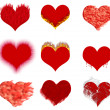 Hearts set effects — Stock Photo