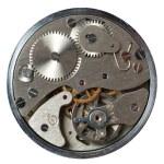 geïsoleerde oude horloge — Stockfoto