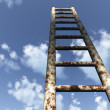 Ladder in the sky - Stock Photo