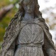 Monument Lady of Guadalupe on a cemetery - Stock Photo