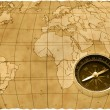 Stock Photo: Ancient compass
