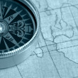 Old compass and map — Stock Photo #6195943