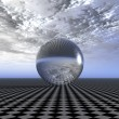 Reflecting sphere — Stock Photo