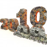 3D an inscription 2010 — Stock Photo