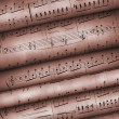 Roll old musical notes — Stock Photo #6197012