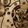 Rust mechanism of analog watch — Stock Photo