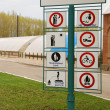 Set of warning signs — Stock Photo