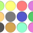 Set round color glass buttons — Stock Photo