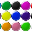 Stock Photo: Set round glass buttons