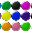 Set round glass buttons — Stock Photo
