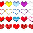 Hearts set - Stock Photo