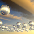 Spheres with reflection — Stockfoto
