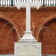 Stone cross - fountain - Stock Photo
