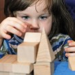 The child - architect — Stock Photo
