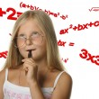 The girl and mathematical formulas — Stock Photo #6198316
