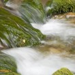 Water cascades of the mountain river - Foto de Stock