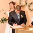 Stock Photo: Wedding signature