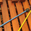 Stock Photo: Wood xylophone and mallets