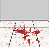 Spot of blood on a tile — Stock Photo