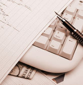 Business a theme sepia effect — Stock Photo