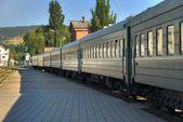Cars of a passenger train — Stock Photo
