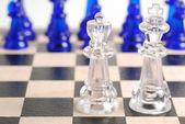 Rainha e rei do xadrez — Foto Stock