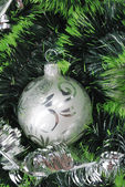 Christmas background with fur-tree — Stok fotoğraf
