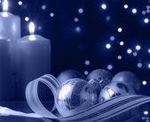 Modrý vánoční večer — Stock fotografie