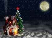 Vánoční noc — Stock fotografie