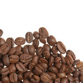 Heap of grains of coffee — Stock Photo