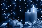 холодная рождественский вечер — Стоковое фото