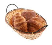 Croissant en la cesta — Foto de Stock