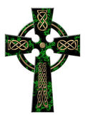 Cross from a green marble — Stock Photo