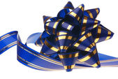 Decorative ornament background - ribbon blue — Stock Photo