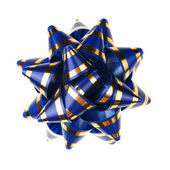 Decorative ornament from tapes - blue — Stock Photo