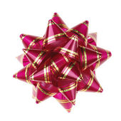 Decorative ornament from tapes -red — Stockfoto