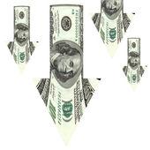 Dollar depreciation — Stock Photo