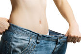 Women and jeans of the greater size — Stock Photo