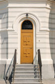 Door in Christian church — Stock Photo