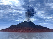 Eruption of a volcano — Stock Photo