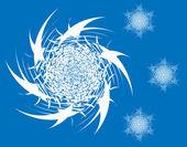Conjunto de flocos de neve — Fotografia Stock