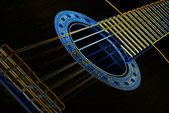 Guitar background abstract glow — Stock Photo