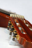 Guitar fingerboard close up — Stok fotoğraf