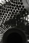 Hairbrush background — Stock Photo