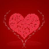 Heart from heart — Zdjęcie stockowe